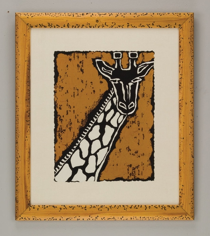 Serengeti Giraffe  nice block print idea for kids