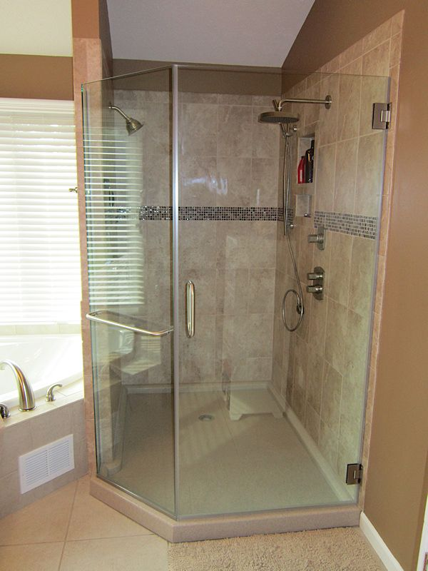 Tile Shower With Onyx Base For The Home Pinterest