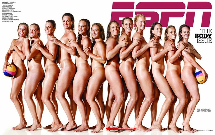athletic women - ESPN body issue US waterpolo team  **tee hee**
