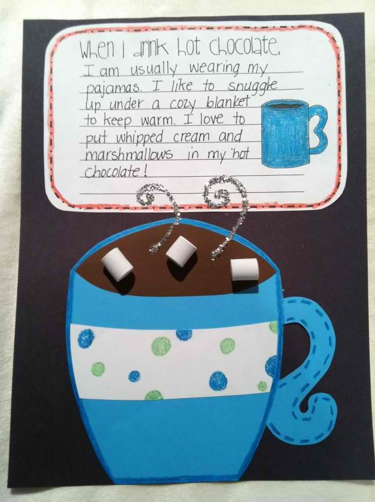 Hot Chocolate Crafts and Activities from Maro's Kindergarten (translate widget at the very top of the blog's right sidebar)