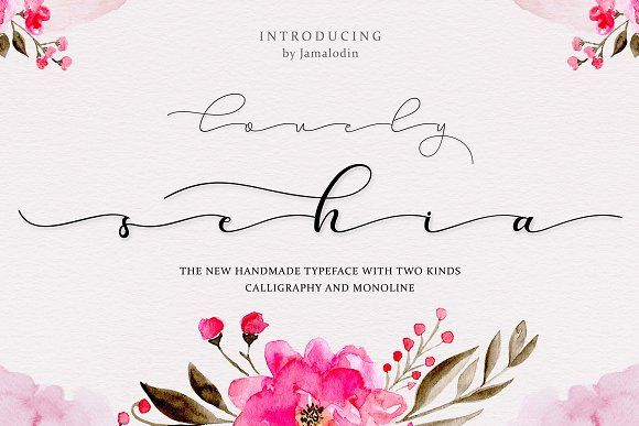 Sehia Calligraphy & Monoline + Bonus by Jamalodin on @creativemarket
