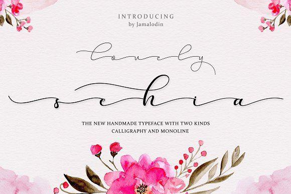 Sehia Calligraphy & Monoline + Bonus by Jamalodin on @creativemarket