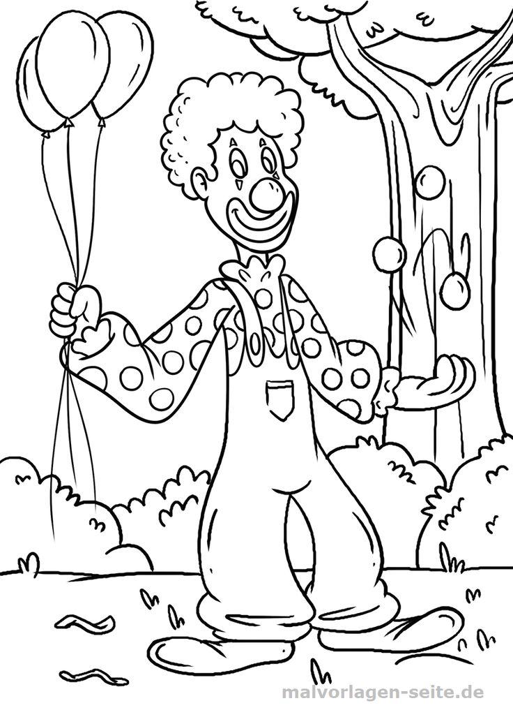 malvorlage clown  gratis malvorlagen zum download bei