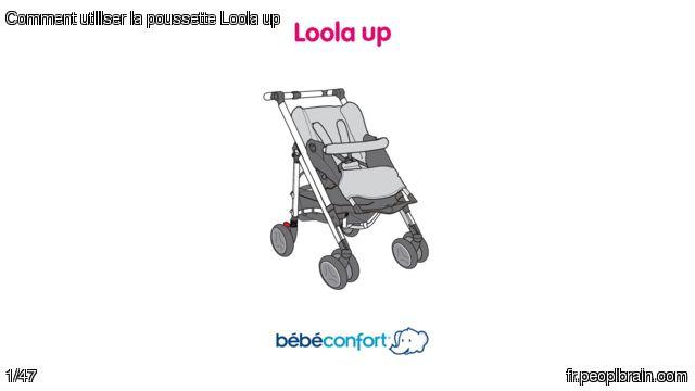 Comment utiliser la poussette Loola up? AlloBébé a numérisé pour vous le mode d'emploi de la poussette Loola Up de BébéConfort. Vous pouvez la consulter n'importe où via votre smartphone, tablette ou ordi ici : https://fr.peoplbrain.com/tutoriaux/puericulture/utiliser-la-poussette-loola-up Créez vous aussi vos guides sur PeoplBrain!