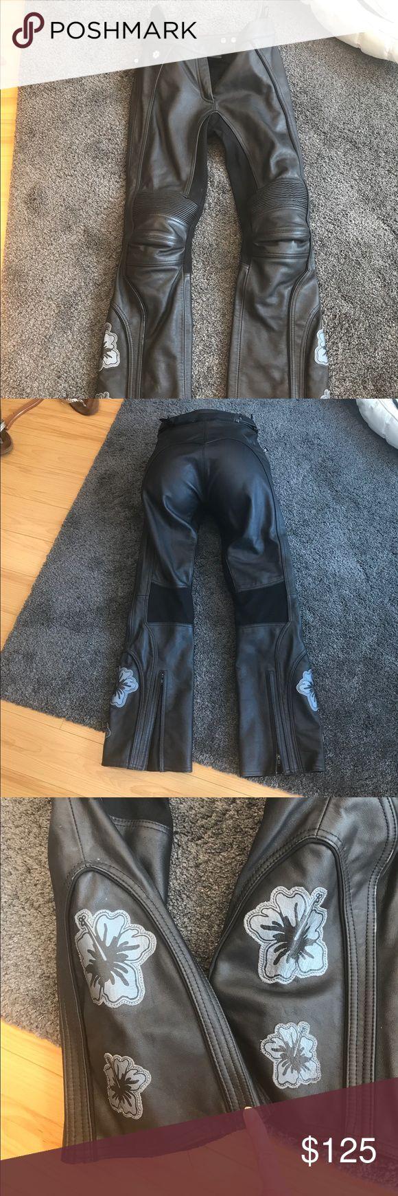 Black, Joe Rocket leather motorcycle pants. XS. Only worn a few times. Black Joe Rocket leather motorcycle pants. Joe Rocket Pants