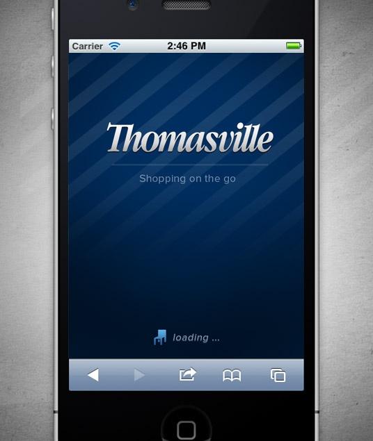 Mobile Splash Screen For Thomasville, Thomasville Furniture Website