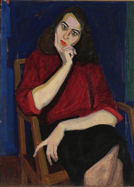 Portrait of A.G, 1954 Panayiotis Tetsis