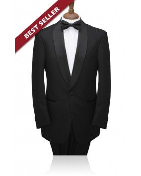 £94.99 1 Button, Black Shawl Lapel, 2 piece Tuxedo