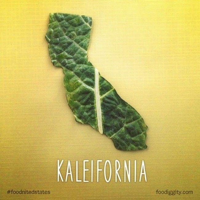 Kaleifornia Food Puns The Foodnited States Of America Chris Durso Son