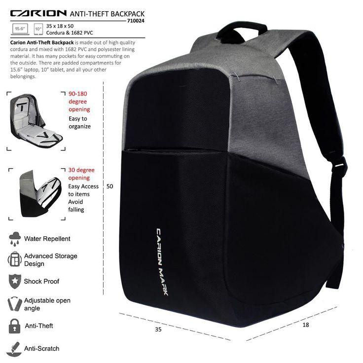 Saya menjual Smart Backpack Anti Theft Tas Anti Maling Carion Mark seharga $350000.00. Dapatkan produk ini hanya di Shopee! https://shopee.co.id/onstagecloth/478870350 #ShopeeID