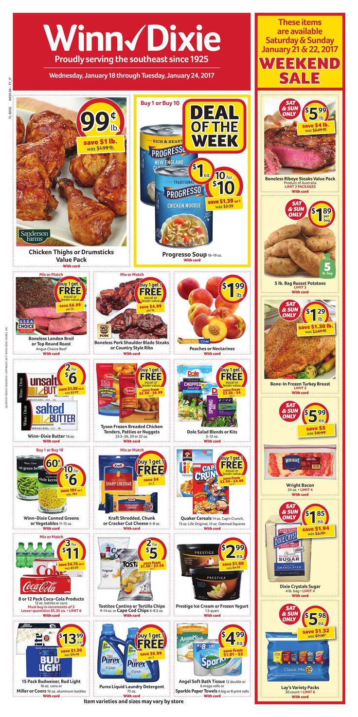 Winn Dixie Weekly Ad January 18 - 24, 2017 - http://www.olcatalog.com/grocery/winn-dixie-weekly-ad.html