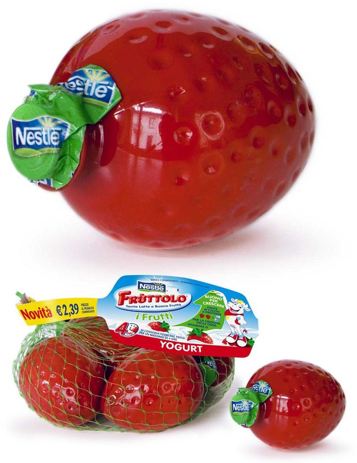 Now that's a strawberry. Did I mention yogurt? They finally did it. Fruit_shape bottles