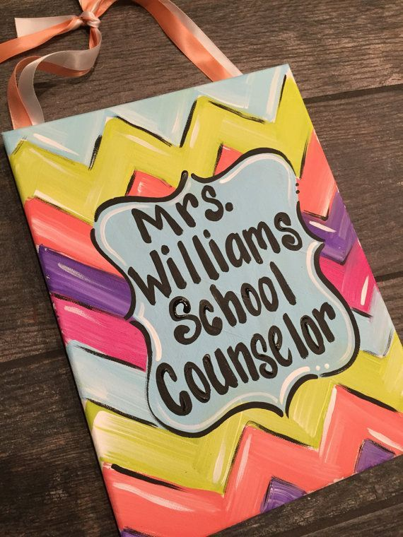 school counselor door sign  counselor office sign by MelanieLupien