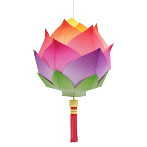 Paper craft Lotus Lantern - with free printable download & assembly instructions (from Canon)