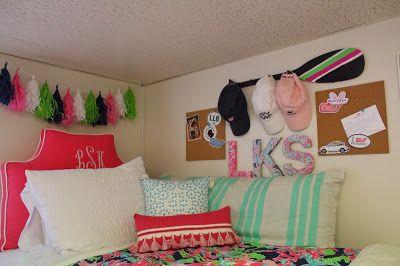 Daily Dose of Prep preppy dorm room, lilly pulitzer dorm