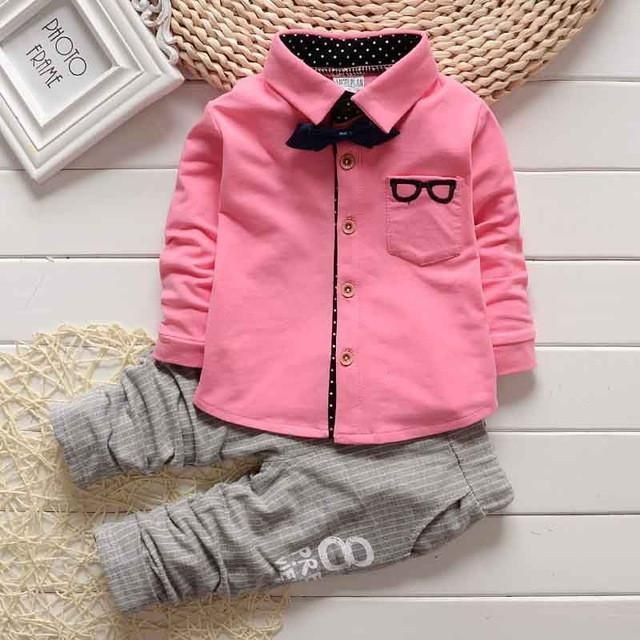 Long Sleeve Shirt with Striped Pants