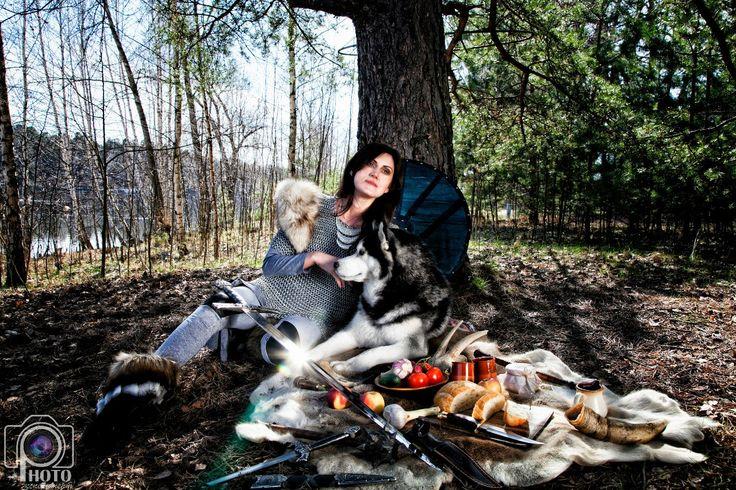 викинги, кольчуга, хаска, фотосессия