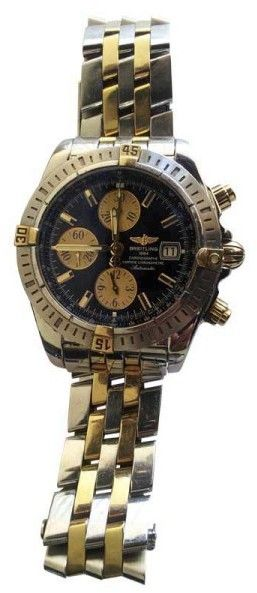 Breitling B13356 Chronomat Stainless Steel & 18K Yellow Gold Mens Watch