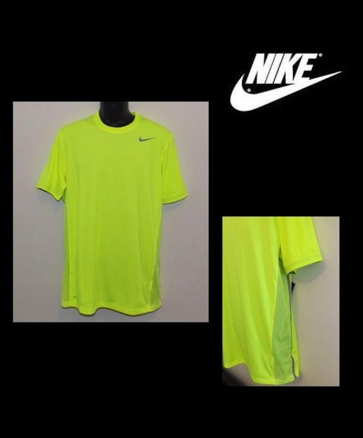 Nike Mens Speed Legend Dri-fit Volt Yellow Running Shirt MEDIUM 613620 702 NWT #Nike #ShirtsTops