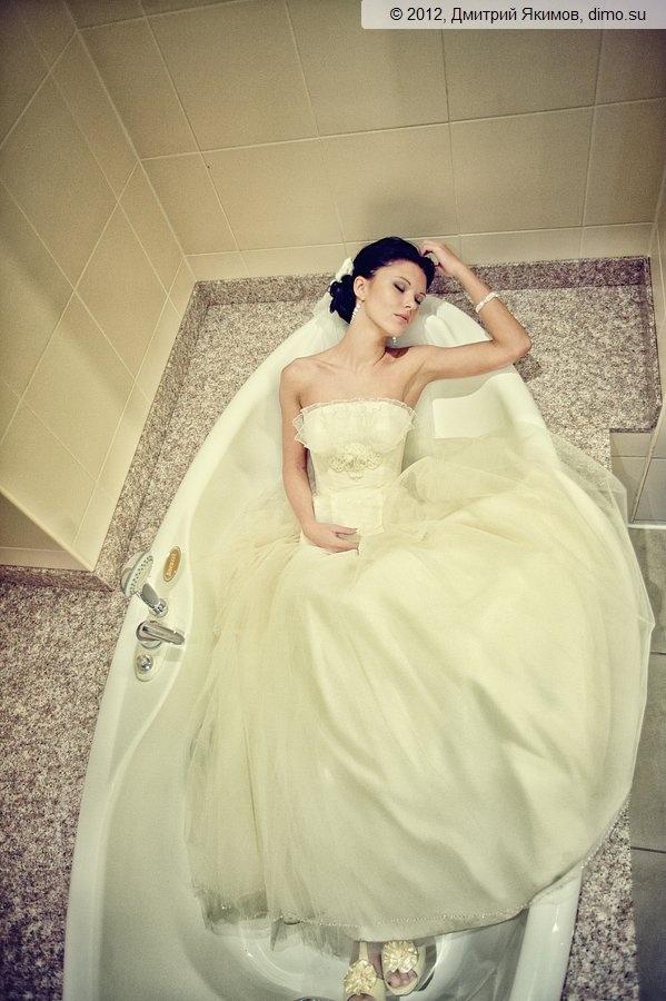 фотосессия в ванной на свадьбе