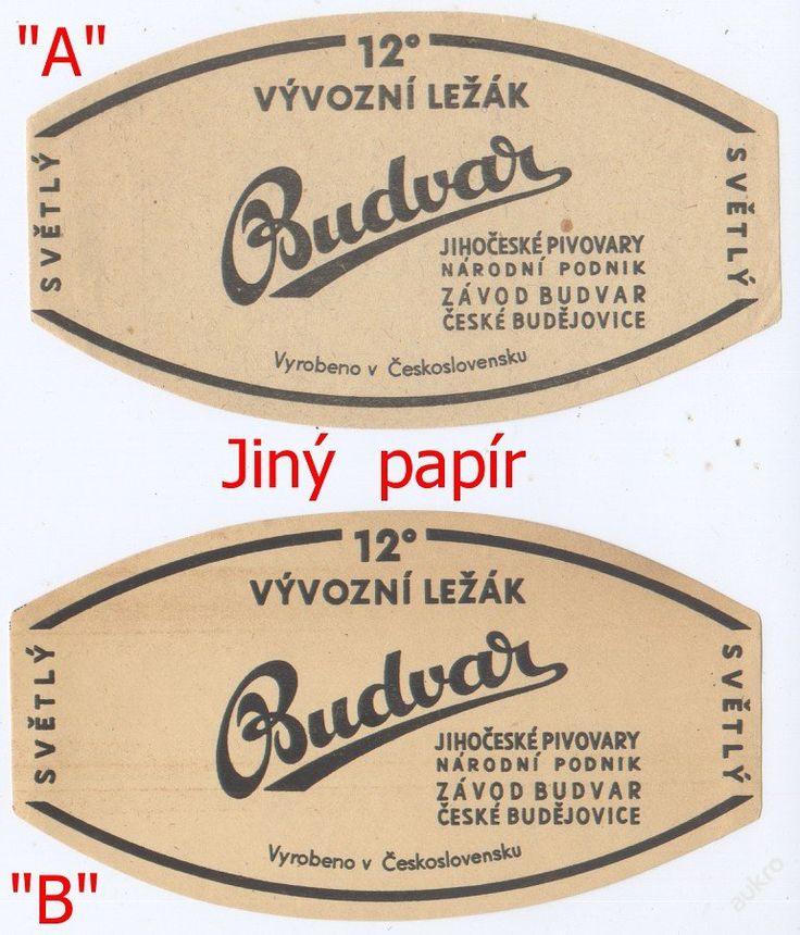 PEMD 1 ks stará etiketa BUDVAR 12° SVĚTLÝ !!! A ! (6395963729) - Aukro - největší obchodní portál