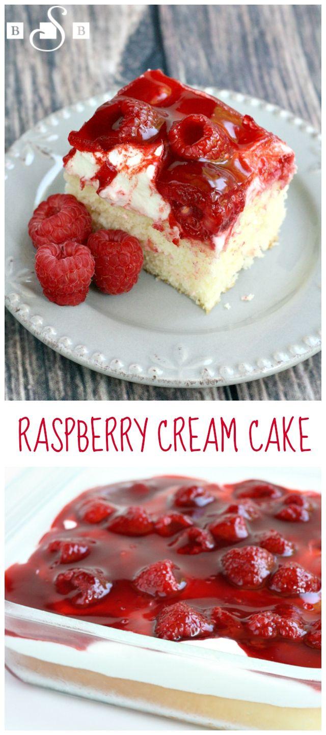 cream cake strawberries raspberry recipes raspberries raspberry cakes ...