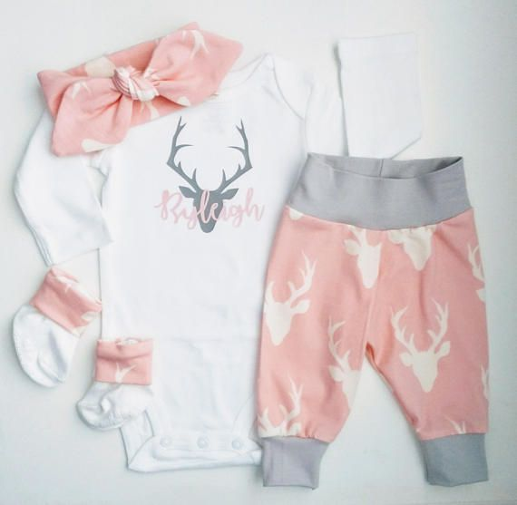 6cacb603a8b18 BEST SELLING ITEMS, Baby Girl Coming Home Outfit, boho style, Deer ...