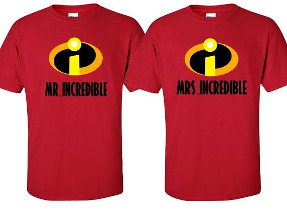Mr Mrs Incredible Couples Shirt or Vacation by MickeysMagicalTees