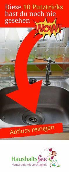 Abfluss reinigen mit alten Hausmitteln.. Diese 10 Putztricks hast du noch nie gesehen | Haushaltsfee.org