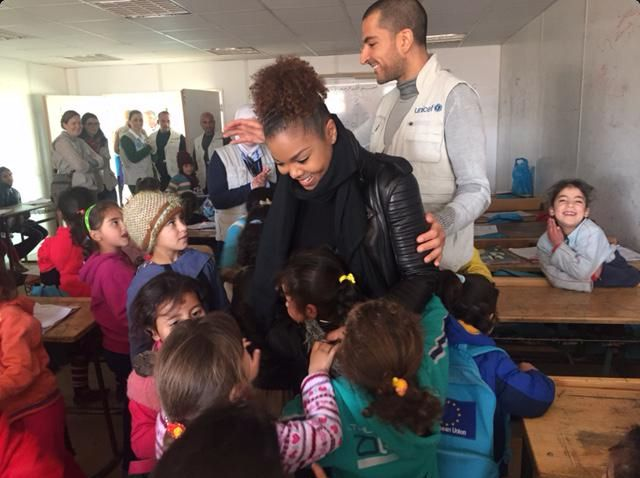 With UNICEF Zaatari Camp. Syria's beautiful children. Their openness and love... so wonderful. Wissam and Janet