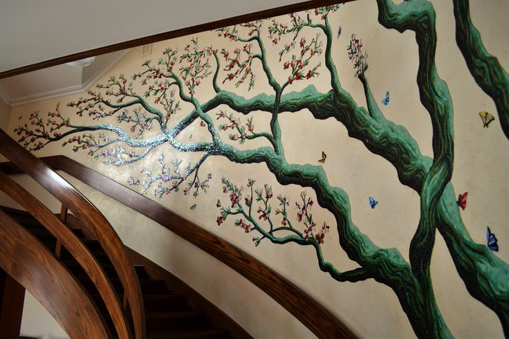 Mosaic tree decoration.