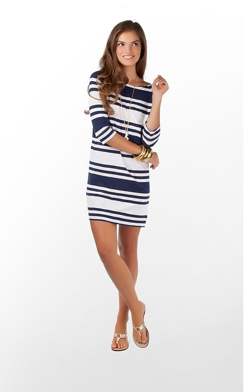 I want this for spring! @Lilly Pulitzer $98: Cassie Dresses, Lilly Dresses, Summer Dresses, Spring Dresses, Navy Stripes, Cute Dresses, Lilies Pulitzer, Pulitzer Cassie, Stripes Dresses