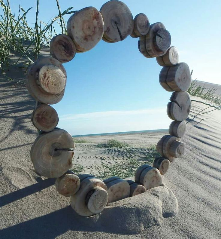Lovely driftwood mirror.