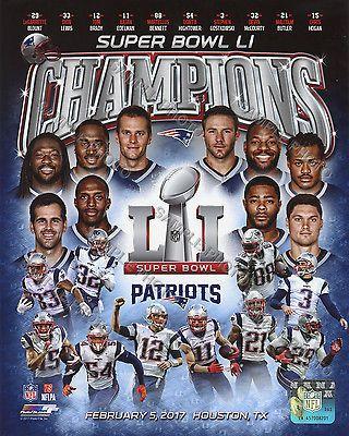New England Patriots 2016-2017 Super Bowl 51 Champions 8X10 Team Composite Photo