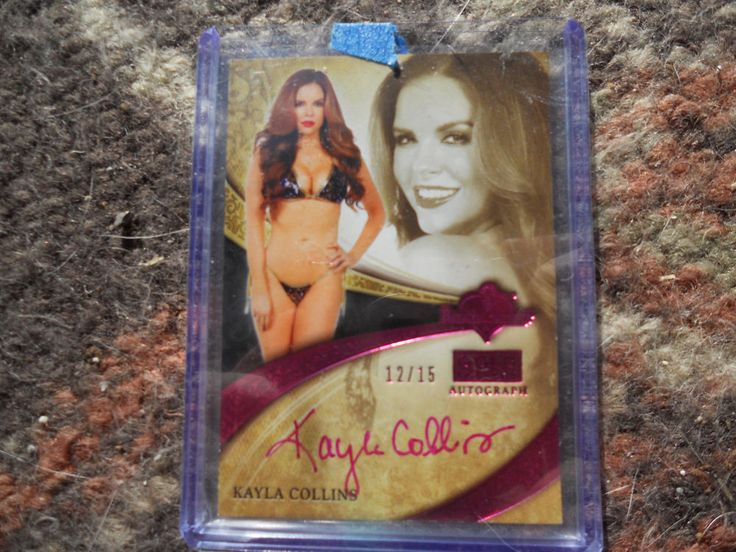 2014 Bench Warmer GOLD EDITION  PINK AUTO-KAYLA COLLINS 12/15