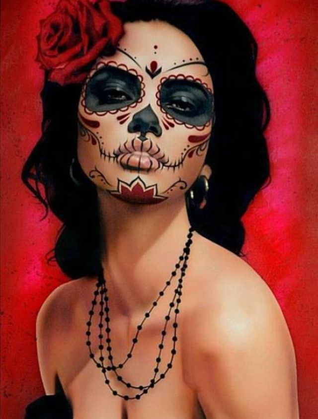 Beautiful Dia de los muertos costume, love this