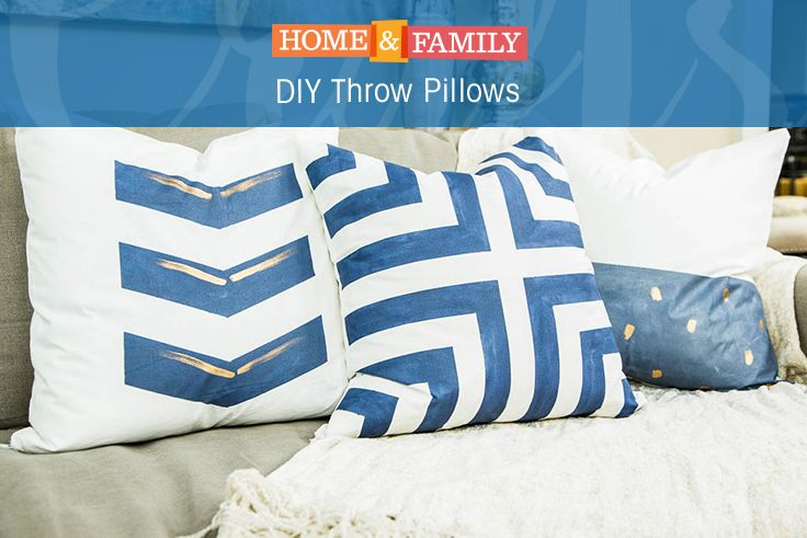 DIY Throw Pillows -  Throw pillows are great and add so much personality into a room but they are so pricey! We've figured out how to do it ourselves with the help of @hmcarmona!