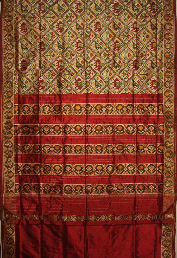 Chloe House - Tussar @ http://www.chloehouse.in/tussar-maroon-narikunj-design-pochampally-silk-saree/