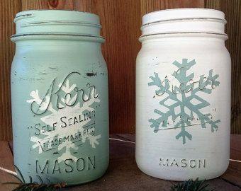 Deer Head Mason Jar Quart Mason Jar Rustic by SimplyJoyHomeGoods