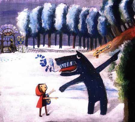 "Leicia Gotlibowski illustration for ""Little Red Ridding Hood""."