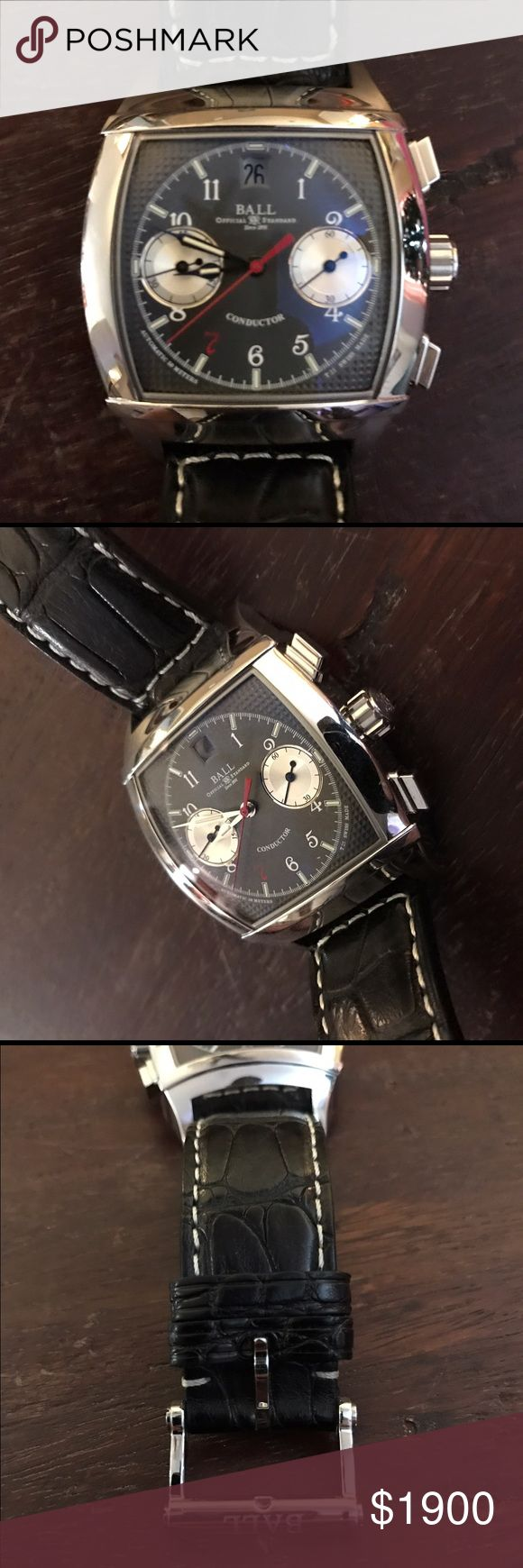 Ball Conductor Vanderbilt watch Beautiful dress watch with polished case and black crocodile strap. Worn only a handful of times, and has minimal signs of wear. Comes with original box and paperwork! Ball Watch Co Accessories Watches