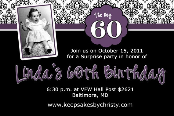 Custom Birthday Invitation 30th 40th 50th by keepsakesbychristy, $10.95