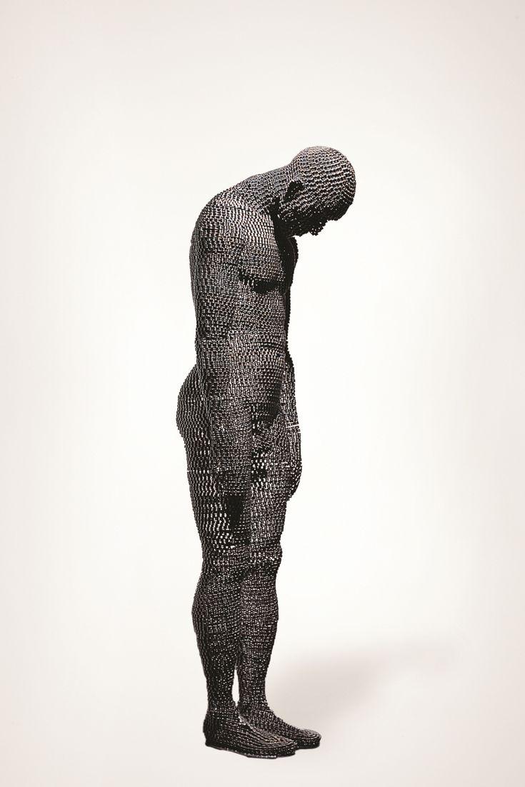 Meditation #3, Iron Chain,  85 x 85 x 180 cm,  2009