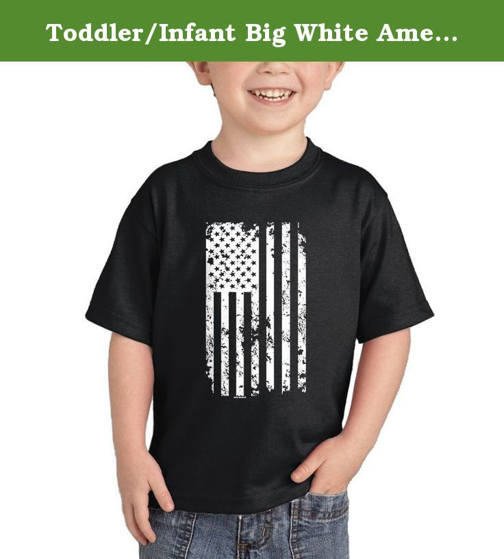 Toddler/Infant Big White American Flag T-shirt (3T, BLACK). To preserve quality, we advise to wash it inside out in cold water.