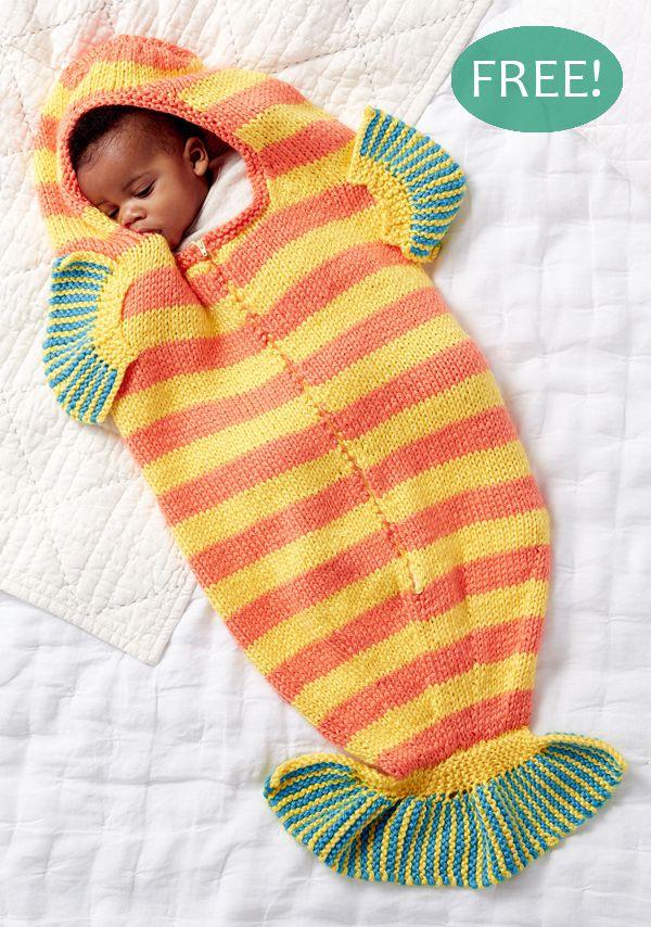 Free Knitting Pattern Clown Fish Baby Slumber Sack