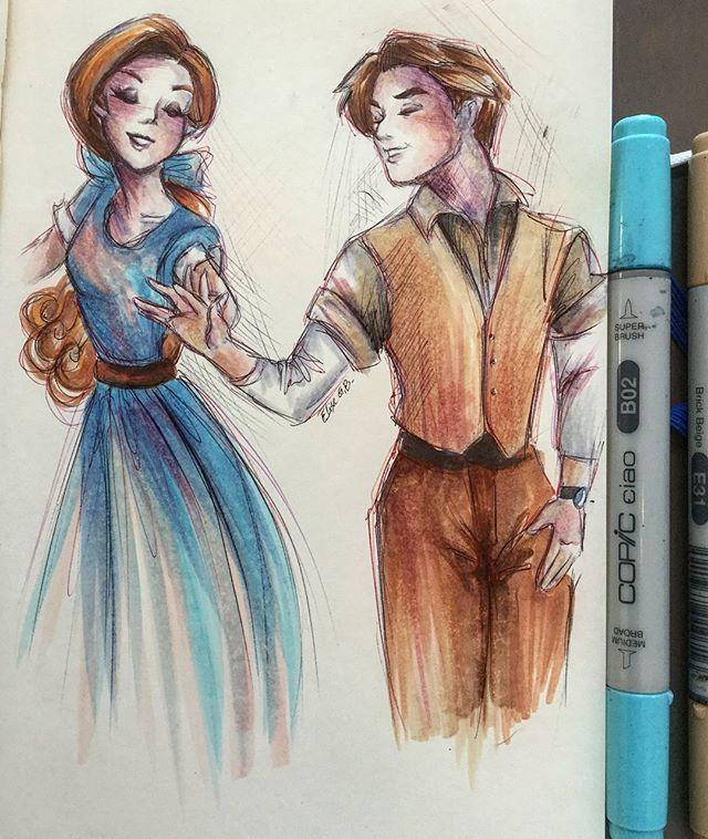 Anastasia and dmetri drawing