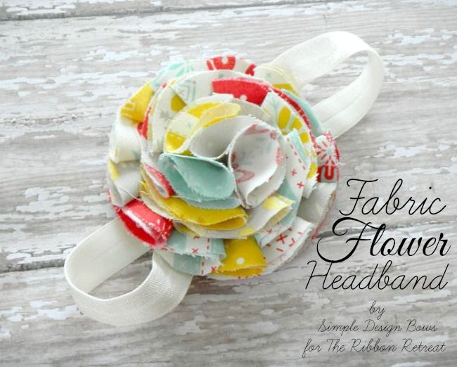 Fabric Flower Headband - The Ribbon Retreat Blog