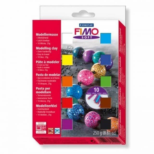 Fimo Soft Set 10 Halbblöcke á 25g Idee Creativmarkt
