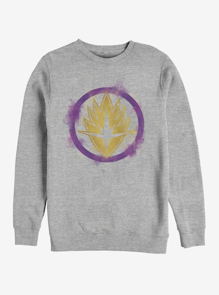 Marvel Avengers: Endgame Guardians Spray Logo Heathered Sweatshirt – Products