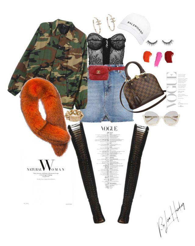 """""""Baddie 2"""" by liralahore on Polyvore featuring Versace, Topshop, Chanel, HUF, Christian Dior, Balenciaga, Andrew Marc, Liberty, tarte and Yves Saint Laurent"""